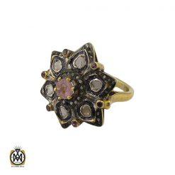 انگشتر الماس اصل و زمرد طرح نوشاد زنانه - کد 2184 - 1 304 247x247