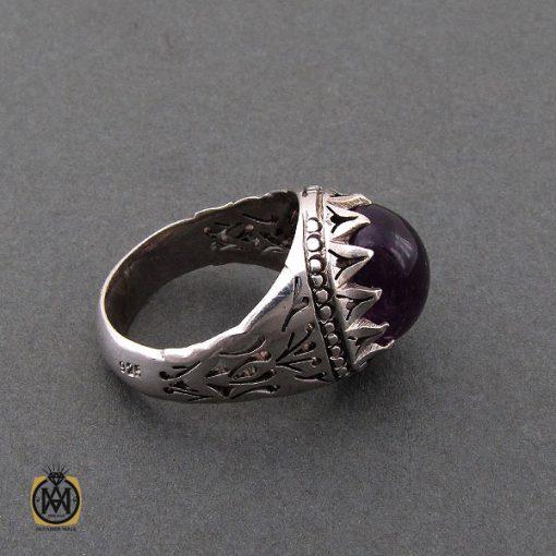 انگشتر آمتیست مردانه مرغوب و خوش رنگ – کد ۱۰۲۰۹