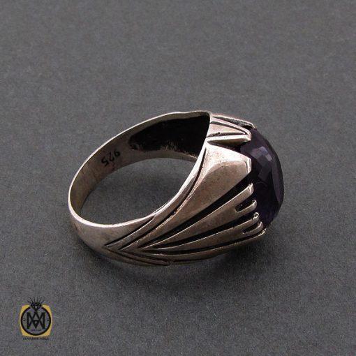 انگشتر آمتیست مردانه خوش رنگ و معدنی - کد 10210 - 2 11 510x510