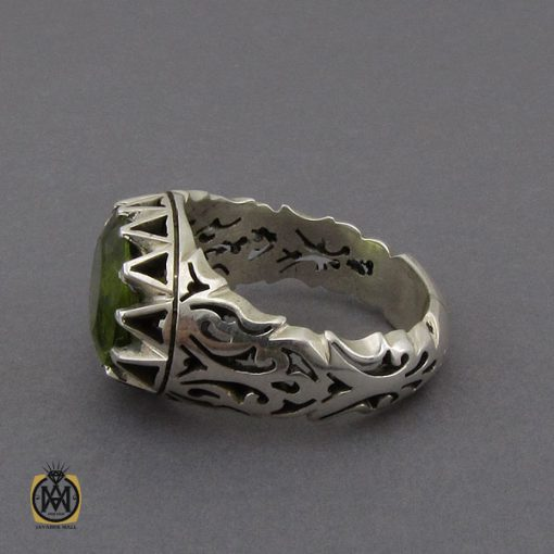 انگشتر زبرجد طرح صفوی مردانه دست ساز – کد ۱۰۲۸۹