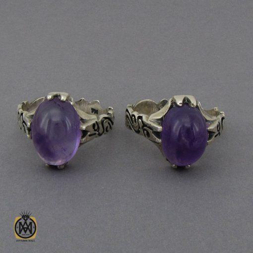انگشتر آمتیست خوش رنگ مردانه - کد 10302 - 2 126 510x510