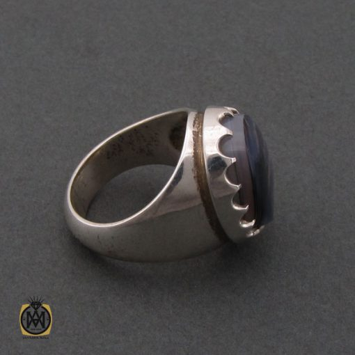 انگشتر عقیق شجر مردانه مرغوب و دست ساز - کد 10213 - 2 14 510x510