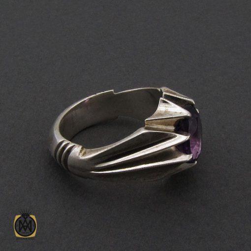 انگشتر آمتیست خوش رنگ مردانه دست ساز - کد 10331 - 2 177 510x510