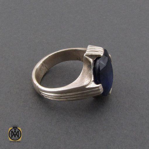 انگشتر یاقوت کبود خوش رنگ مردانه - کد 10333 - 2 179 510x510
