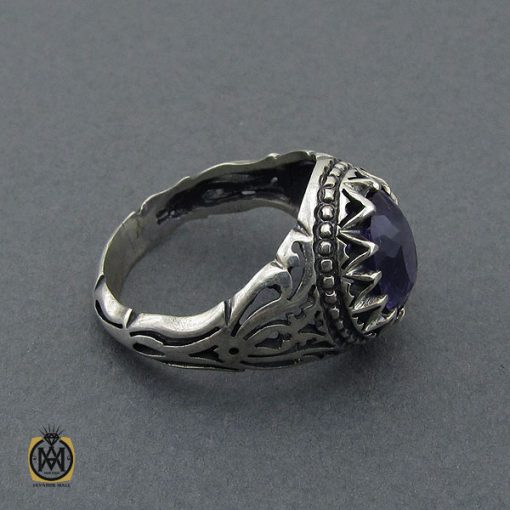 انگشتر آمتیست مردانه - کد 10389 - 2 248 510x510