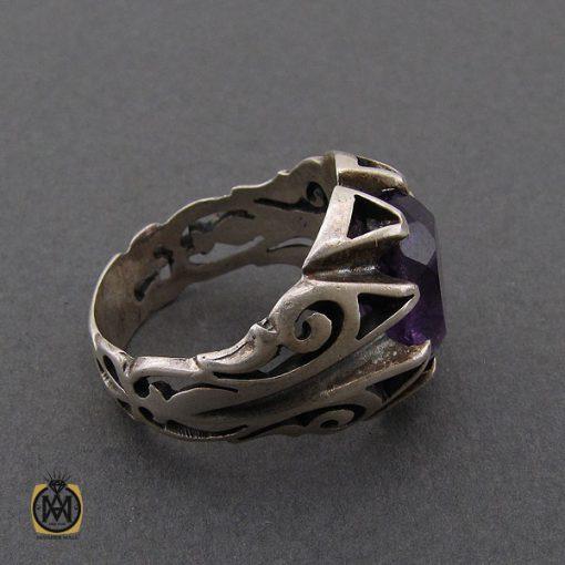 انگشتر آمتیست خوش رنگ مردانه - کد 10401 - 2 270 510x510