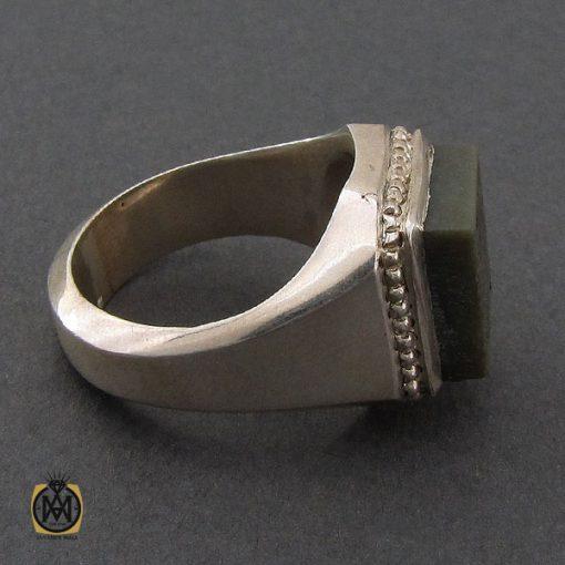 انگشتر یشم با حکاکی الله و پنج تن مردانه دست ساز – کد ۱۰۲۵۸