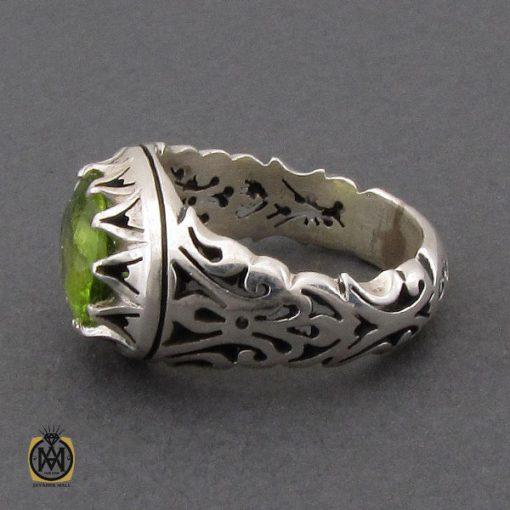 انگشتر زبرجد طرح صفوی مردانه دست ساز – کد ۱۰۲۶۵