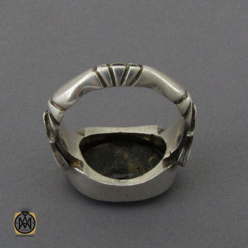 انگشتر فیروزه نیشابوری خوش رنگ مردانه دست ساز - کد 10281 - 3 105 510x510