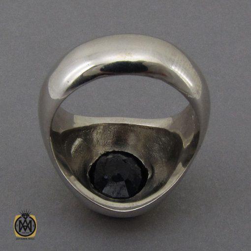 انگشتر یاقوت کبود خوش رنگ مردانه دست ساز - کد 10283 - 3 107 510x510