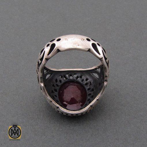 انگشتر یاقوت سرخ خوش رنگ مردانه - کد 10211 - 3 12 510x510