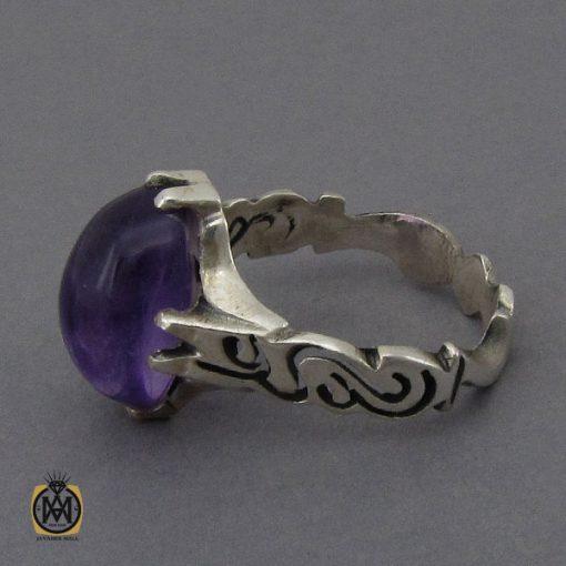 انگشتر آمتیست خوش رنگ مردانه - کد 10302 - 3 126 510x510