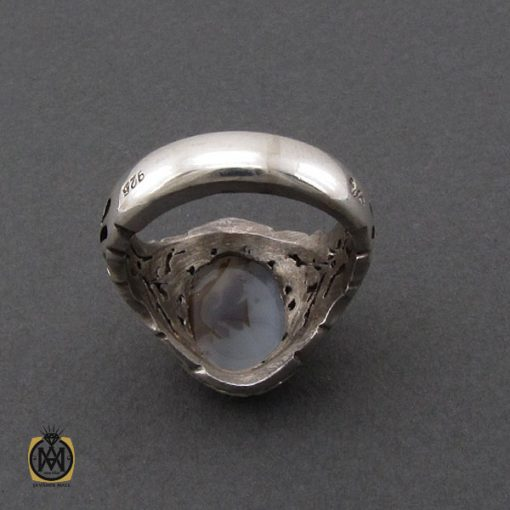 انگشتر عقیق شجر مردانه دست ساز - کد 10326 - 3 172 510x510