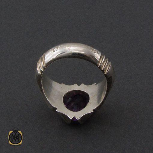 انگشتر آمتیست خوش رنگ مردانه دست ساز - کد 10331 - 3 177 510x510