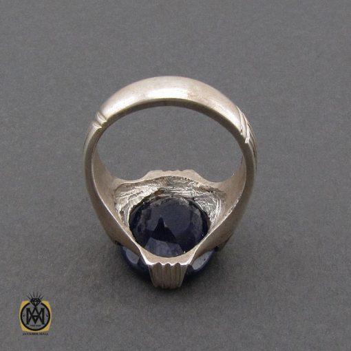 انگشتر یاقوت کبود خوش رنگ مردانه - کد 10333 - 3 179 510x510