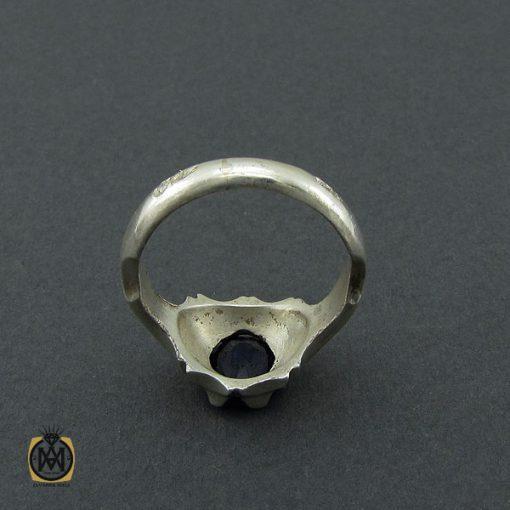 انگشتر یاقوت کبود مرغوب مردانه - کد 10392