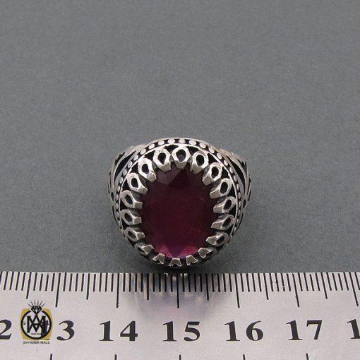 انگشتر یاقوت سرخ خوش رنگ مردانه - کد 10211 - 4 12 510x510