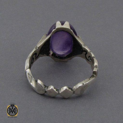انگشتر آمتیست خوش رنگ مردانه - کد 10302 - 4 125 510x510