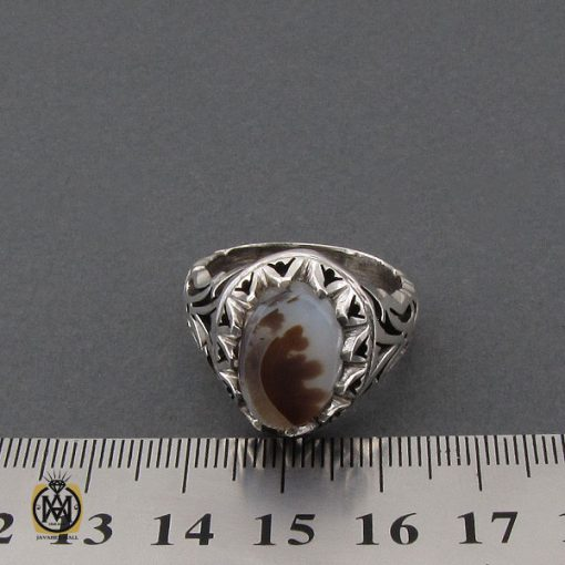انگشتر عقیق شجر مردانه دست ساز - کد 10326 - 4 170 510x510