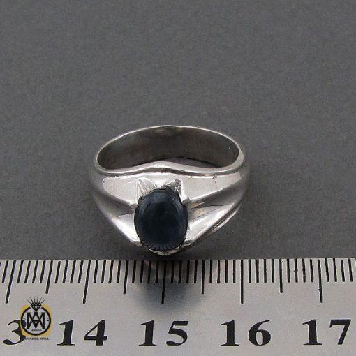 انگشتر یاقوت کبود استار مردانه - کد 10246 - 4 70 510x510
