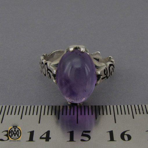 انگشتر آمتیست خوش رنگ مردانه - کد 10302 - 5 100 510x510