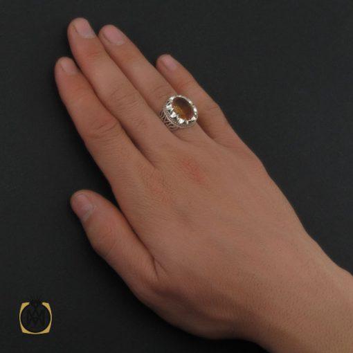 انگشتر زولتنایت مردانه دست ساز هنر استاد صانعی - کد 10307 - 5 112 510x510
