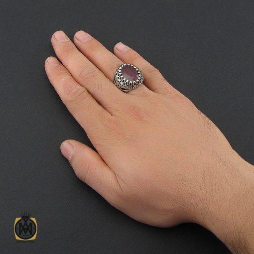 انگشتر یاقوت سرخ خوش رنگ مردانه - کد 10211 - 5 12 510x510