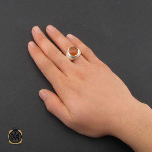 انگشتر عقیق یمن با حکاکی شرف الشمس مردانه - کد 10318 - 5 126 510x510