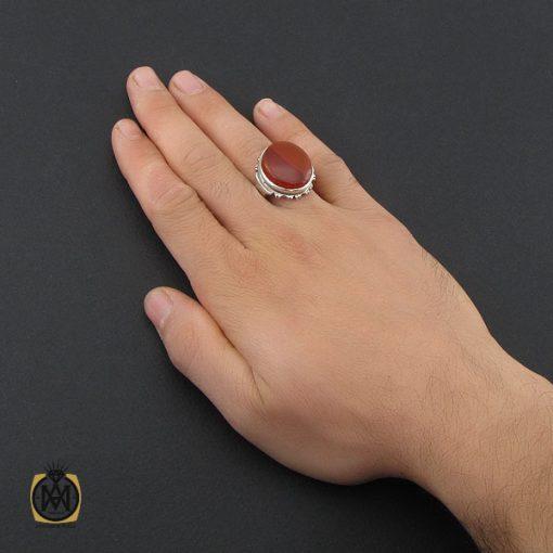 انگشتر عقیق یمن درشت مردانه - کد 10212 - 5 13 510x510