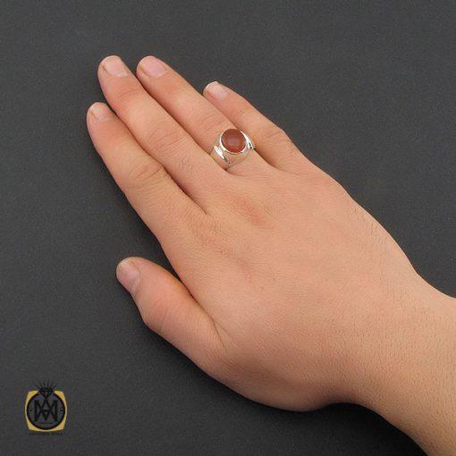 انگشتر عقیق یمن با حکاکی شرف الشمس مردانه دست ساز - کد 10325 - 5 133 510x510