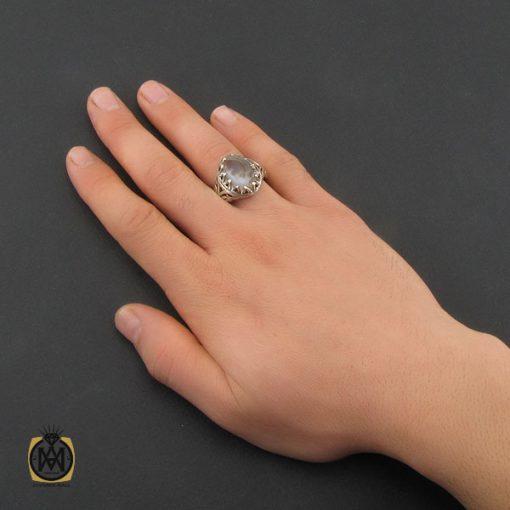 انگشتر عقیق شجر مردانه دست ساز - کد 10326 - 5 134 510x510
