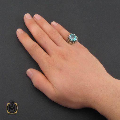 انگشتر توپاز سبز مردانه - کد 10328 - 5 136 510x510