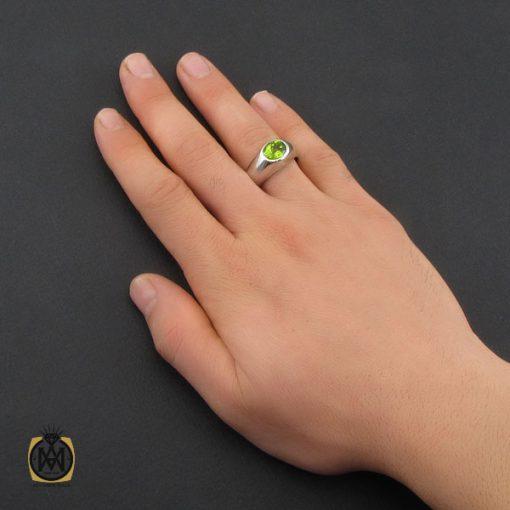 انگشتر زبرجد مرغوب مردانه دست ساز - کد 10329 - 5 137 510x510