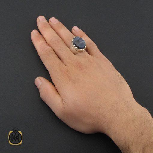 انگشتر عقیق شجر مردانه مرغوب و دست ساز - کد 10213 - 5 14 510x510