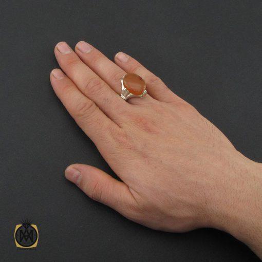 انگشتر عقیق یمن مردانه - کد 10347 - 5 155 510x510