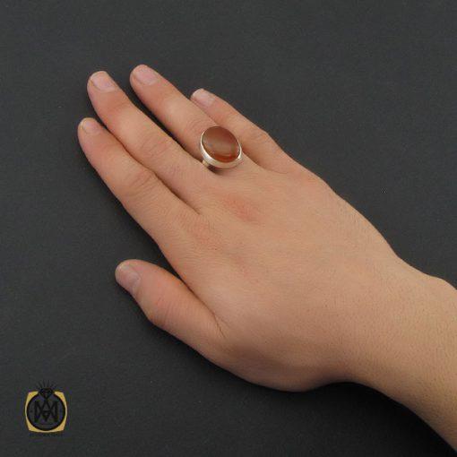 انگشتر عقیق یمن مردانه دست ساز - کد 10352 - 5 160 510x510