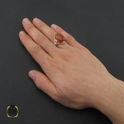 انگشتر عقیق یمن مردانه - کد 10356 - 5 164 510x510