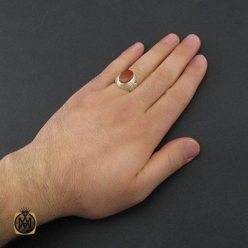انگشتر عقیق یمن مردانه - کد 10394