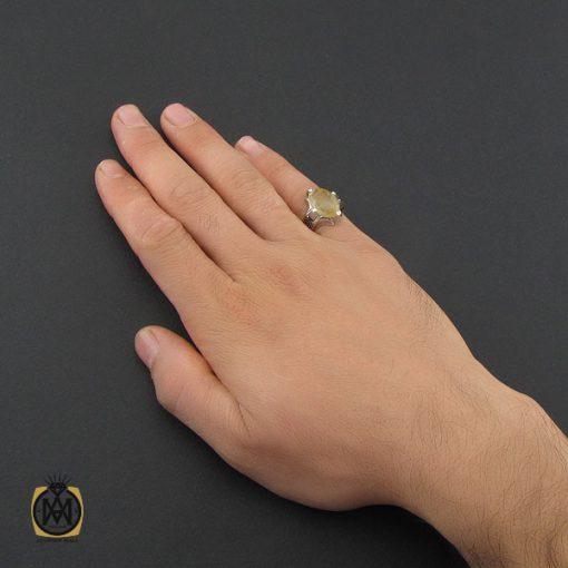 انگشتر کوارتز رُتایل مردانه دست ساز - کد 10201