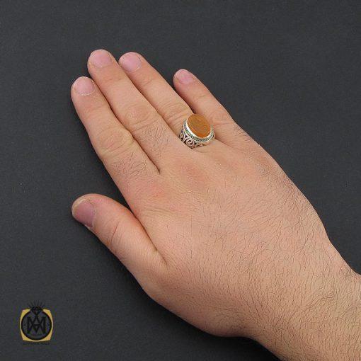 انگشتر عقیق یمن با حکاکی یا کریم مردانه - کد 10384 - 5 200 510x510
