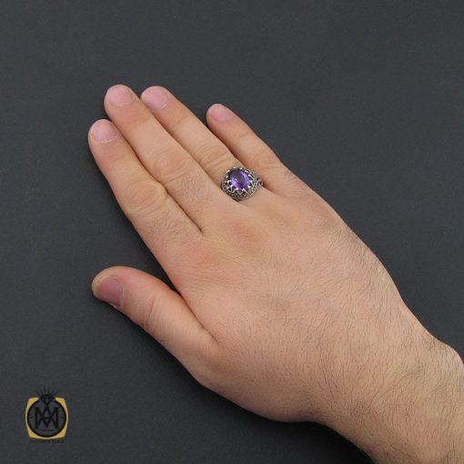 انگشتر آمتیست مردانه - کد 10389 - 5 205 510x510