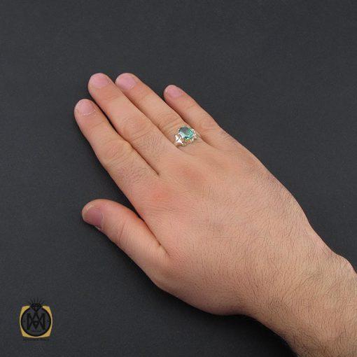 انگشتر توپاز سبز مردانه - کد 10390 - 5 206 510x510