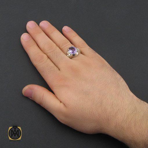 انگشتر آمتیست مردانه استاد باقرزاده - کد 10397 - 5 216 510x510