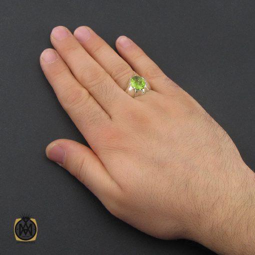 انگشتر زبرجد مردانه دست ساز – کد ۱۰۴۰۳