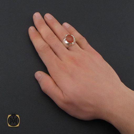 انگشتر عقیق یمن با حکاکی شرف الشمس مردانه - کد 10423 - 5 230 510x510