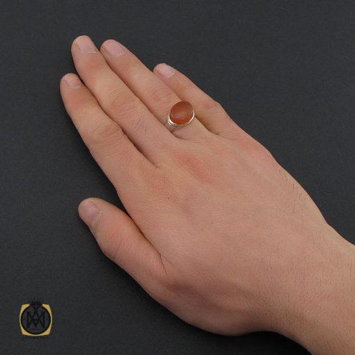انگشتر عقیق یمن با حکاکی شرف الشمس طرح صفوی مردانه - کد 10424 - 5 231 510x510