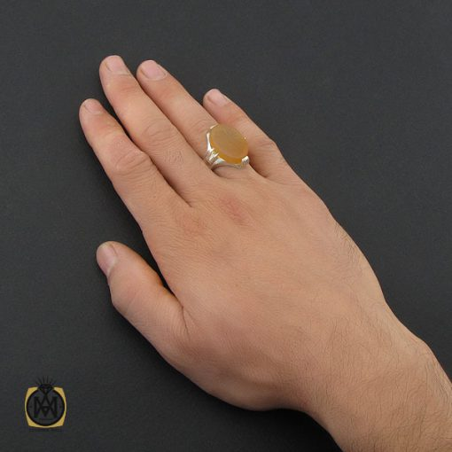انگشتر عقیق یمن با حکاکی الله و پنجتن مردانه - کد 10228 - 5 29 510x510