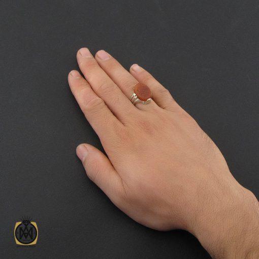 انگشتر عقیق یمن با حکاکی یا ثامن الائمه مردانه - کد 10230 - 5 31 510x510