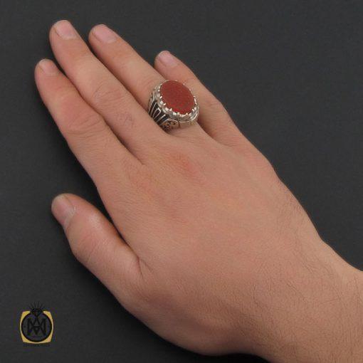انگشتر عقیق یمن با حکاکی  حب الحسین اجننی دست ساز مردانه - کد 10234 - 5 37 510x510