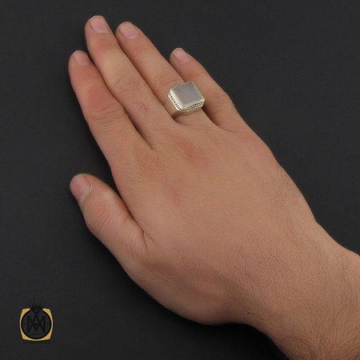 انگشتر عقیق یمن یا حکاکی هفت شرف مردانه دست ساز - کد 10242 - 5 45 510x510